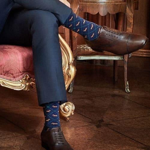 costume-homme-chaussettes-burlington-motif