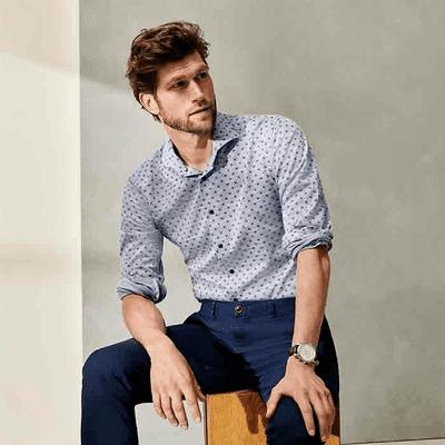costume-homme-chemises-eterna-sans-repassage-decontractee